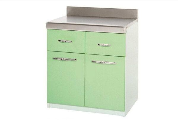 【石川家居】915-08(綠白色)兩抽平檯(CT-704)#訂製預購款式#環保塑鋼P無毒防霉易清潔