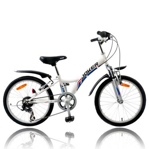 【7號公園自行車】JOKER 傑克牌 A-218 20吋6速炫童車 白