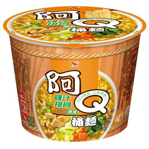 阿Q桶麵 雞汁排骨風味 107g【康鄰超市】