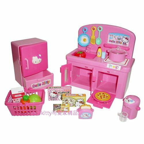 asdfkitty可愛家☆KITTY廚房流理台兒童玩具組-扮家家酒-日本正版商品