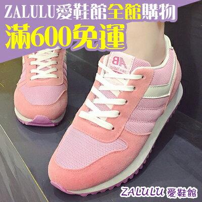 ☼zalulu愛鞋館☼ BE151實穿經典透氣網布運動鞋-黑/灰/粉/紫 36-40偏小
