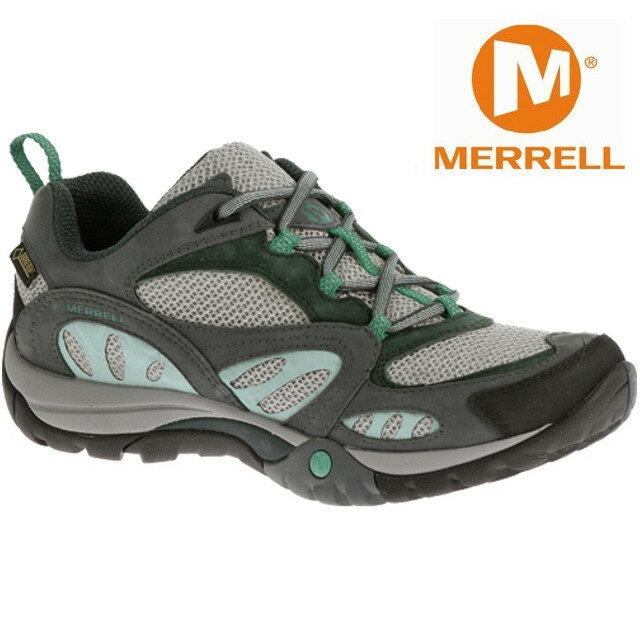 Merrell 低筒健行鞋/防水透氣越野鞋/戶外運動鞋 Azura GORE-TEX 女款 灰/藍色 ML32352
