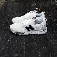 New Balance 美國慢跑鞋/跑步鞋推薦new balance nb 247 MRL247WG 白色 白黑 白底黑字 網布 皮革 修長 質感 慢跑鞋