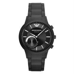 【EMPORIO ARMANI】EMPORIO ARMANI 亞曼尼 ART3001 EA CONNECTED藍芽智慧時尚腕錶/黑面43mm(ART3001)