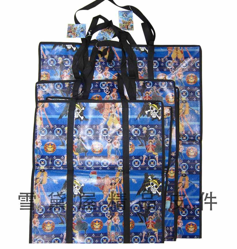 ^~雪黛屋^~旅行袋 袋 袋簡易型防水由底部加強耐重車縫PVC尼龍布摺疊壓扁收納不占空間