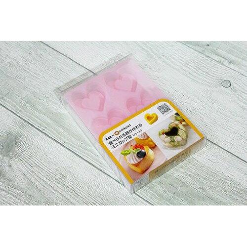日本貝印立體心型矽膠果凍蛋糕烤模-6連式-粉