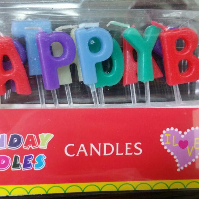 現貨!!英文生日快樂蠟燭