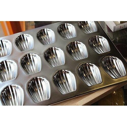 日本CakeLand瑪德蓮不鏽鋼迷你蛋糕烤模15連 909◎日本.瑪德蓮.不鏽鋼.迷你.蛋糕.模具