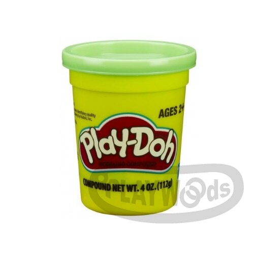 【Playwoods】[PLAYDOH][孩之寶-培樂多黏土]原料 繽粉色罐 4盎司單罐 翠綠色(DIY/安全無毒/Hasbro)