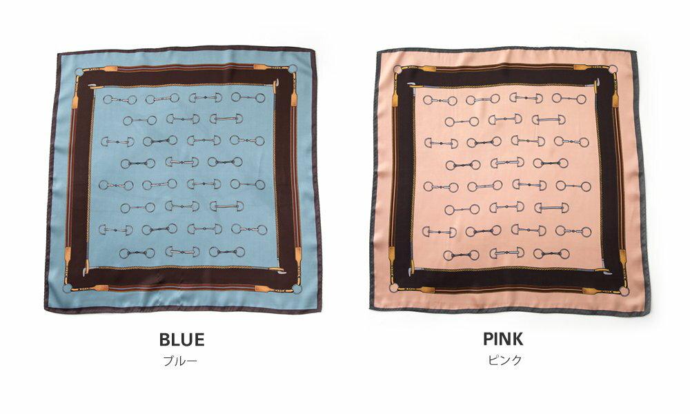日本CREAM DOT  /  スカーフ バッグ リボン 正方形 小物 ストール チェーン柄 ヴィンテージ柄 大人 上品 エレガント フェミニン シック クラシカル くすみカラー ブラック ベージュ グリーン ブルー ピンク  /  a03517  /  日本必買 日本樂天直送(1690) 4
