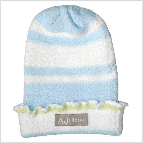 小河馬針織嬰兒帽 0