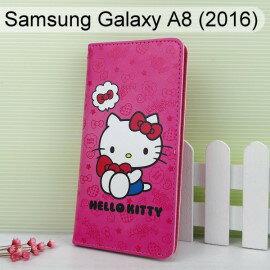 HelloKitty彩繪皮套[可愛]SamsungGalaxyA8(2016)5.7吋【三麗鷗正版】