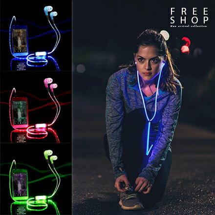 Free Shop 重低音LED酷炫節奏律動發光入耳式平頭式智慧耳機 震撼音質運動耳機麥克風【QAAZR7074】