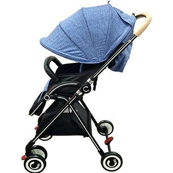 ★衛立兒生活館★Cuibaby 酷貝比 高景觀單向秒收嬰兒推車/手推車-藍色