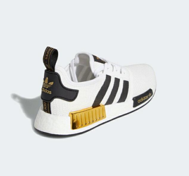 【ADIDAS】NMD R1 白黑金 BOOST 休閒 運動 慢跑鞋 男款 EG5662(palace store) 2
