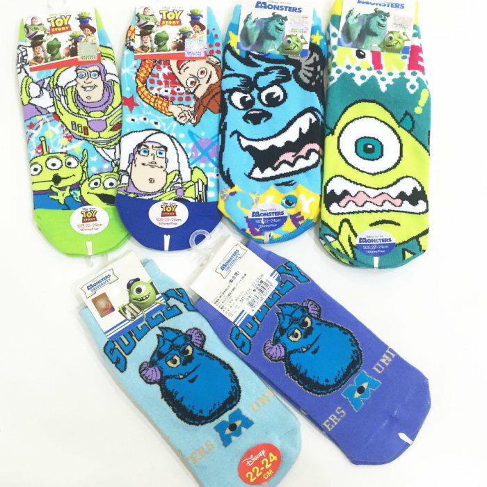 迪士尼 玩具總動員 怪獸電力公司 毛怪大眼仔 巴斯胡迪 襪子 船型襪 短襪 39元 韓國製造進口 JustGril