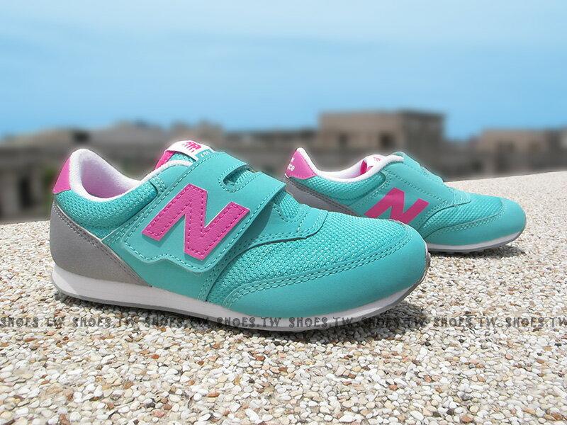 《下殺7折》Shoestw【K620API】NEW BALANCE 膠底 防滑 童鞋 運動鞋 小童 綠桃灰