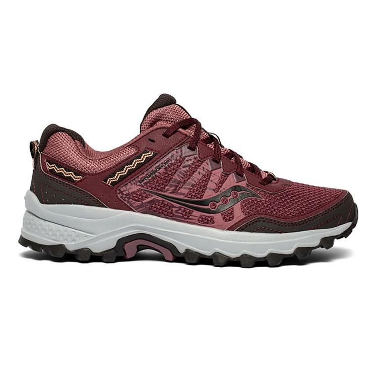 saucony 女GRID EXCURSION TR12 越野鞋SY10451-5【酒紅】 /  城市綠洲 (跑鞋、運動休閒鞋、EVERUN) 1