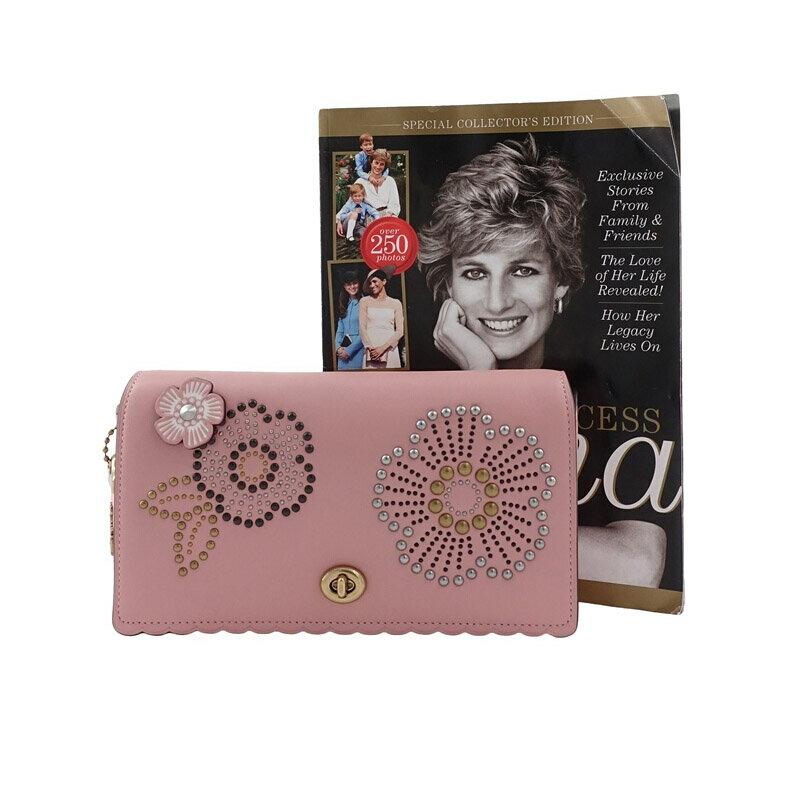 COACH 女士粉色印花單肩斜挎包 F26892 5
