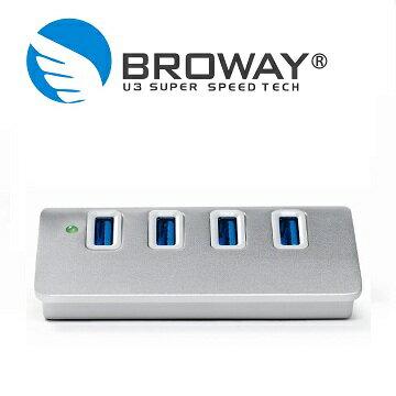 BROWAY 5Gbps USB3.0 4PORT HUB集線器 晶鑽銀