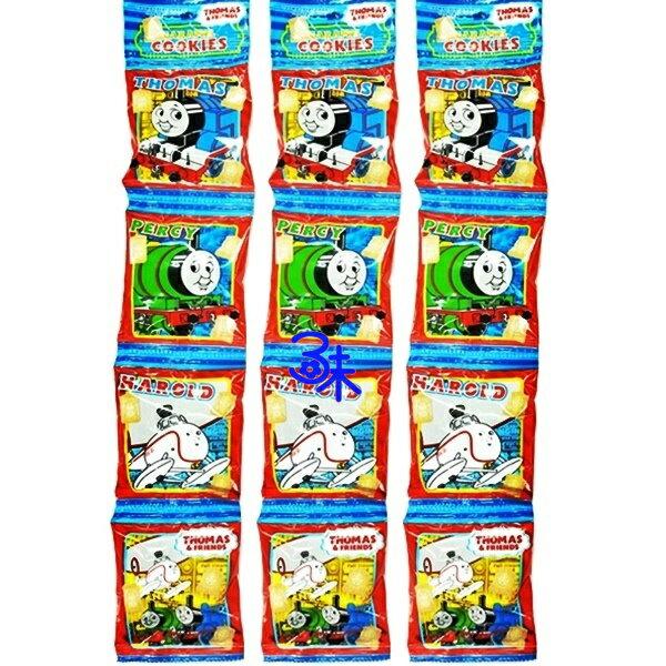 (日本)北陸製果湯瑪士小火車4連牛奶餅 (Thomas 4連餅乾) 1組3條(64g*3條)  特價 220 元【4932395887712 】