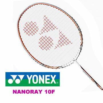 YONEX Nanoray 10F YY羽球拍^~羽毛球拍^(白橘色 附球袋^)