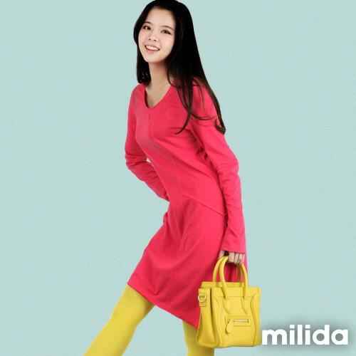 【Milida,全店七折免運】-秋冬單品-洋裝款-長版休閒風 6