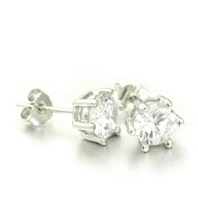 ~925純銀耳環鑲鑽耳飾~簡潔亮眼小巧可愛生日情人節 女飾品2款73dm44~ ~~米蘭