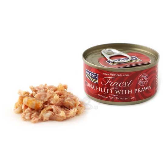 【海洋之星FISH4CATS】鮪魚明蝦貓罐 (70g/罐)