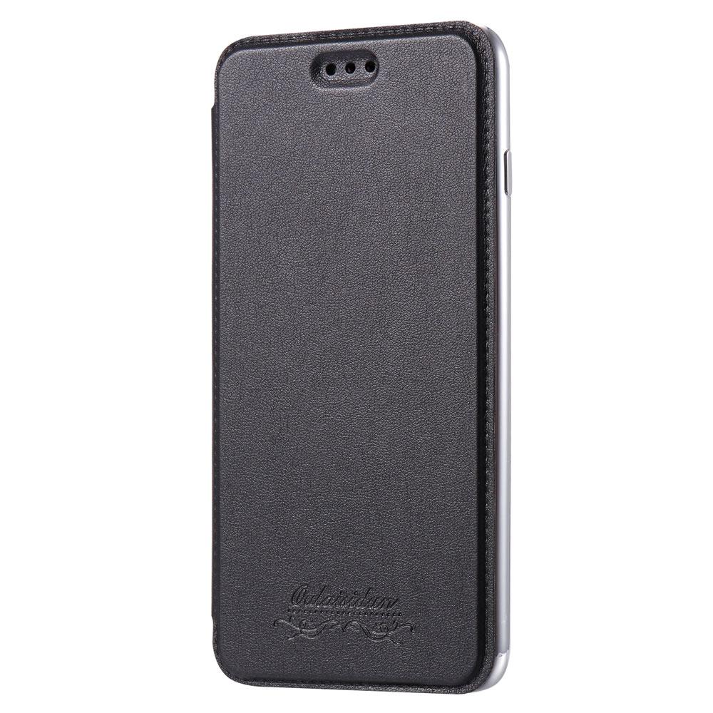 Outlet特價品Apple iPhone 7 Plus/8 Plus 共用透明電鍍邊框側掀美背皮套 手機殼/保護套 太空灰專區1 隨機出貨 $ 79
