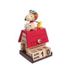 史奴比系列木頭萬年曆-史努比飛行員1284510 《品文創》