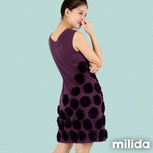 【Milida,全店七折免運】-早春商品-無袖款-獨家設計洋裝 6