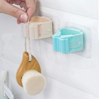 ●MY COLOR●免打孔拖把掛架 無痕 透明吸盤 衛生間 拖把架 掃把架 浴室夾 強力 掃把收納架【P616】