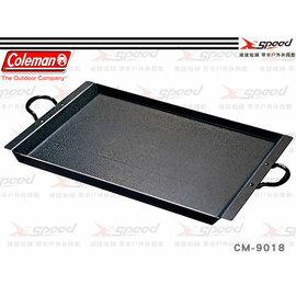 【速捷戶外露營】【美國Coleman】CM-9018 雙口爐專用煎盤煎烤盤 燒烤爐台