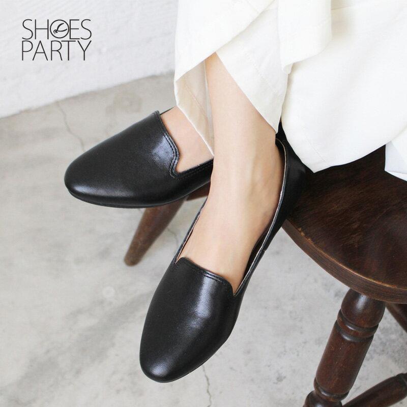 【C2-18307L】素面牛皮歐貝拉_Shoes Party 1