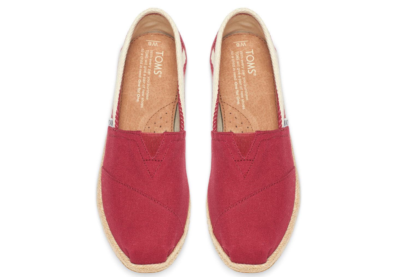 全店點數20倍│【TOMS】紅色寬條紋學院風平底鞋  Red Stripe University Women's Classics 5