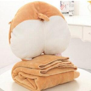 美麗大街【HB2E2105】創意柯基屁股抱枕被子可愛暖手摀三合一小柯基空調毯子毛絨玩具