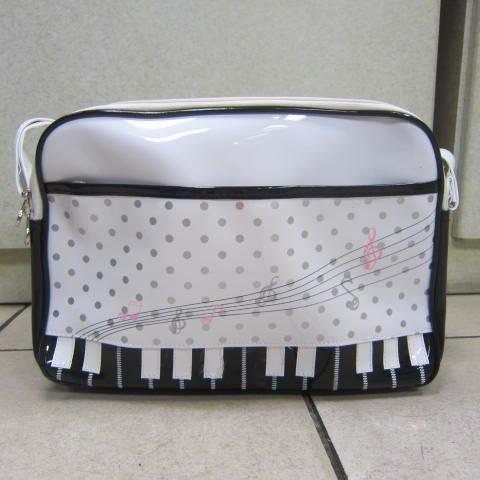 ^~雪黛屋^~SLYNESS鋼琴鏡面側背包 PVC防水防刮 書包外出旅遊多 LC7022白