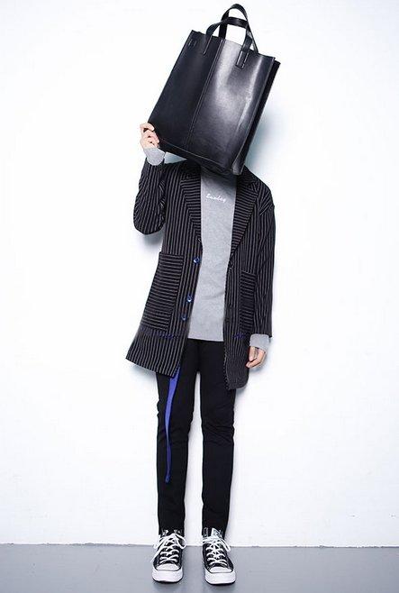 【JP.美日韓】韓國簡約 皮革 托特包 手提包 正韓 皮包 男 包包