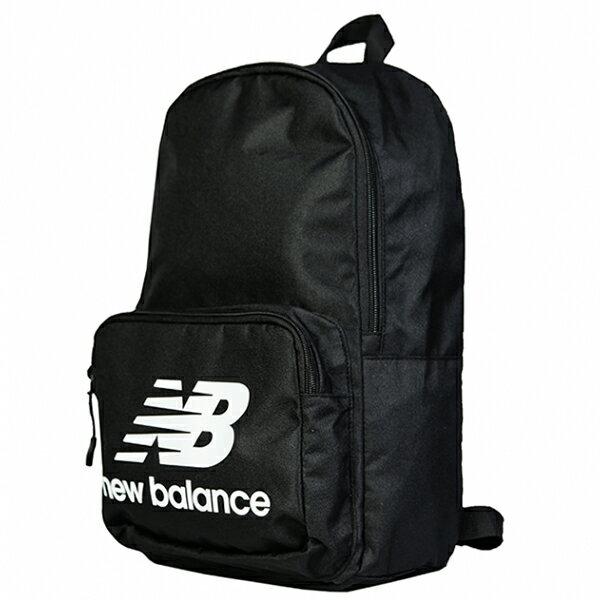 Shoestw【NTBCBPK8BK】NEW BALANCE NB 背包 休閒 運動 後背包 筆電包 黑色 白色大LOGO 1