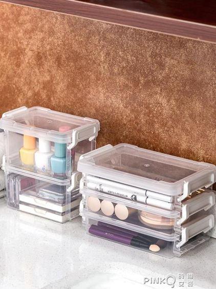 愛麗思IRIS桌面收納盒首飾化妝品文件收納包手帳膠帶證件收納盒 【夏沐生活】