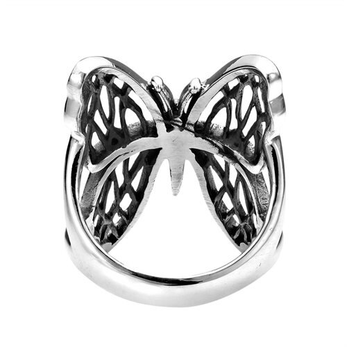Exotic Wings Wild Butterfly .925 Sterling Silver Ring (Thailand) 3