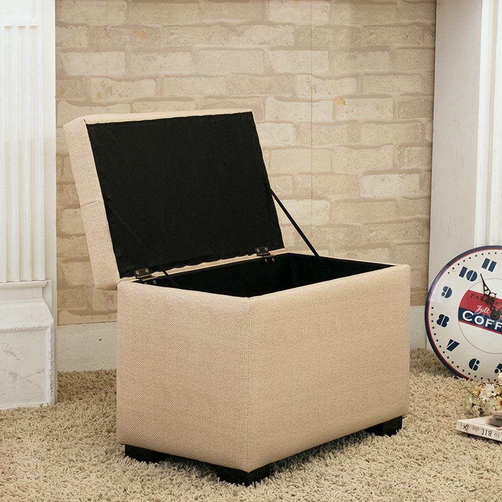 JP Kagu 日式品味皮沙發椅收納椅-米白(BK3215) 1