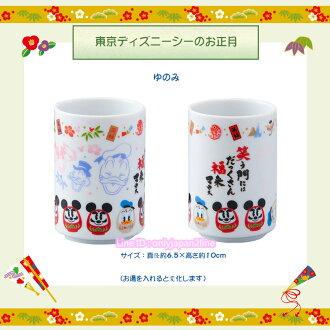 【真愛日本】新年正月福神日式陶瓷變色湯吞杯 迪士尼樂園限定新年 新品食器