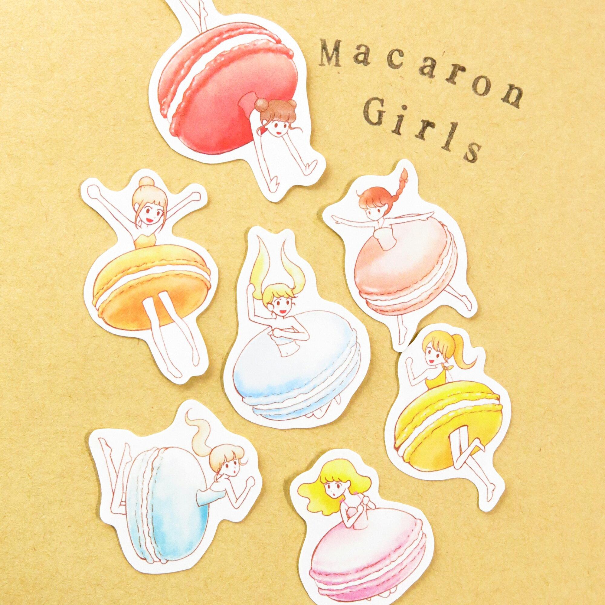 【SM工房】Macaron Girls插畫貼紙組(共7款)