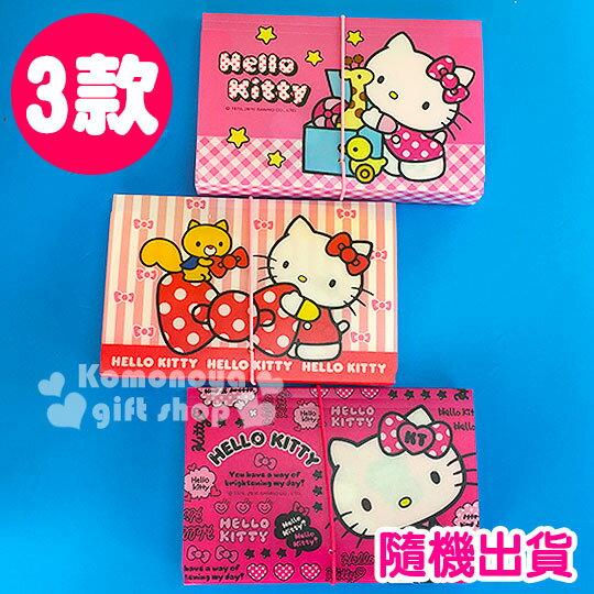 〔小禮堂〕Hello Kitty 迷你風琴夾《3款隨機出貨.12層.紅/桃/粉》