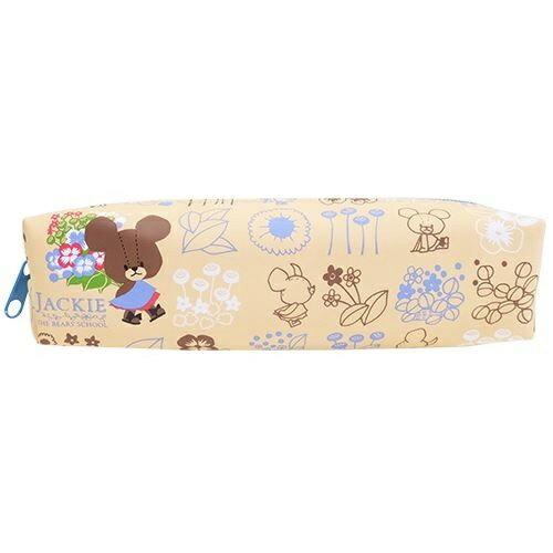 B款 牽牛花~  ~小熊學校 皮質 筆袋 鉛筆盒 中筆袋 防潑水 The Bears ^#