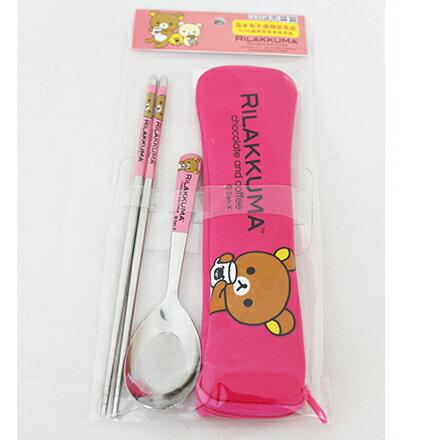 [敵富朗超市]拉拉熊-OPP袋潛水布不銹鋼餐具組加大系列 3