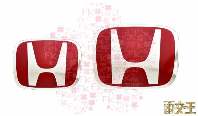【尋寶趣】HONDA本田 日本改裝 FIT JAZZ CRV CIVIC 方向盤 汽車LOGO 紅H SWE-TB