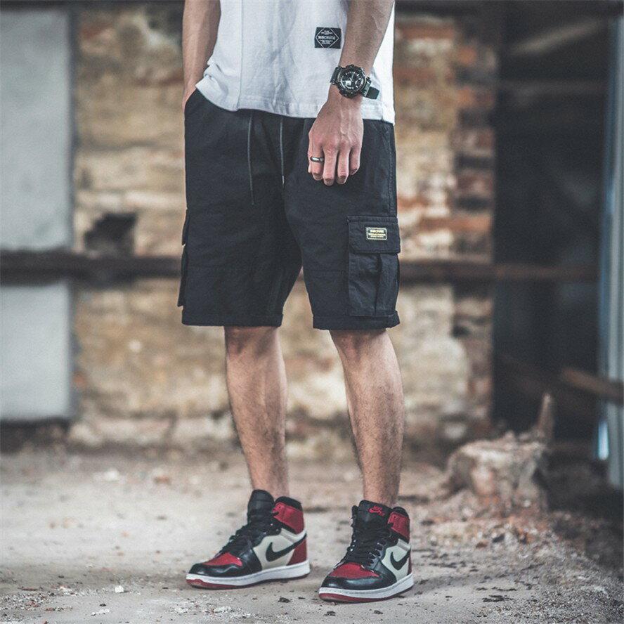 Champion 冠軍個人賣場 短褲男夏季潮流五分潮牌嘻哈寬鬆ins超火港風休閒中工裝短褲